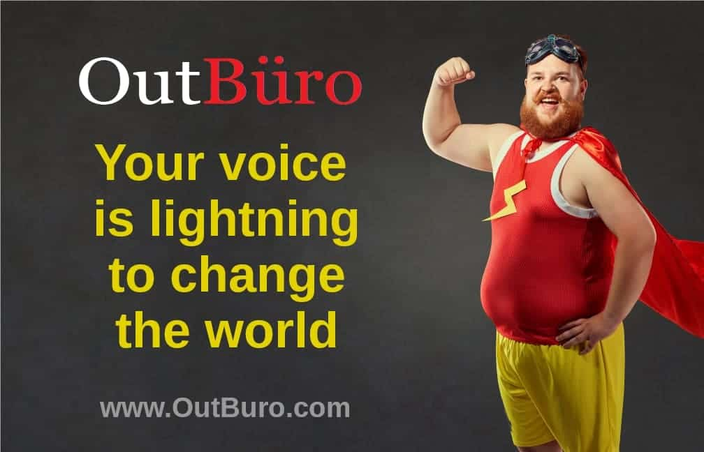 OutBuro - Superhero Your Voice is Lightning - LGBT Employer Company Reviews Directory GLBT Gay Lesbian Bisexual Transgender Queer Professional Community Job Portal Board