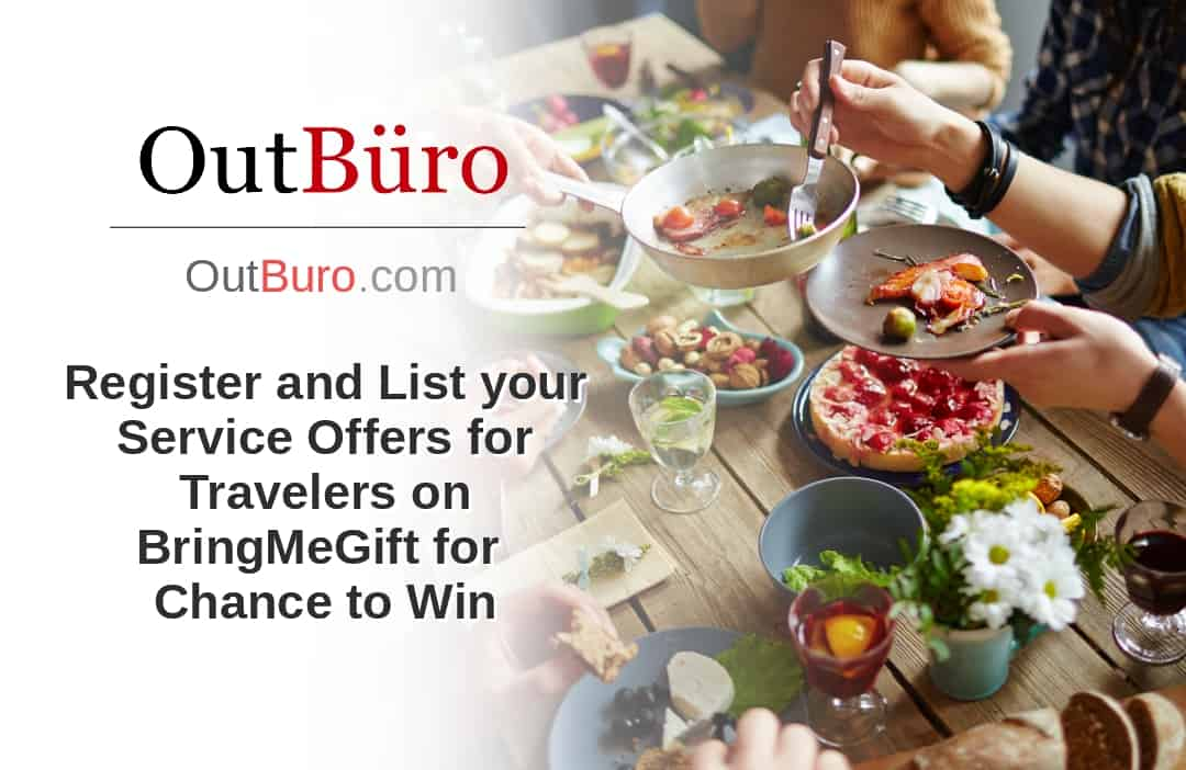 Register and List your Service Offers for Travelers on BringMeGift for Chance to Win