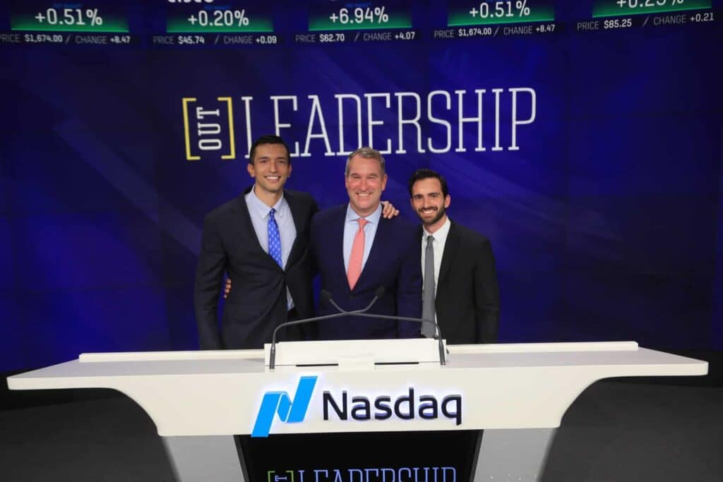 Out Leadership Rings Nasdaq Market Open Bell Nov 2 2018 - OutBuro - LGBT Queer Business News Gay Professional Network Information Resources Lesbian Executives