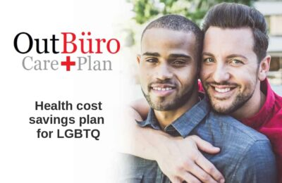 Gay Male couple OutBuro Care Plan Medical Savings Plan Prenegotiated Healcare Costs Cash Discounts