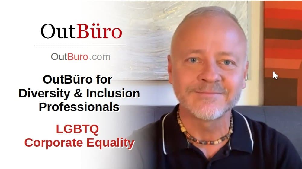 LGBTQ Corporate Equality OutBüro for Diversity and Inclusion Professionals LGBT Employer Branding [Video] - OutBuro LGBT Company Ratings Reviews Monitoring