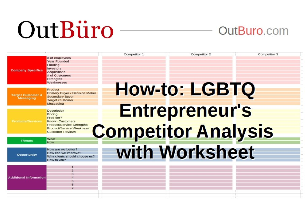 How-to LGBTQ Entrepreneur's Competitor Analysis - OutBuro - LGBT Corporate Equality Employer Ratings Reviews Monitoring Employees gay lesbian business owner
