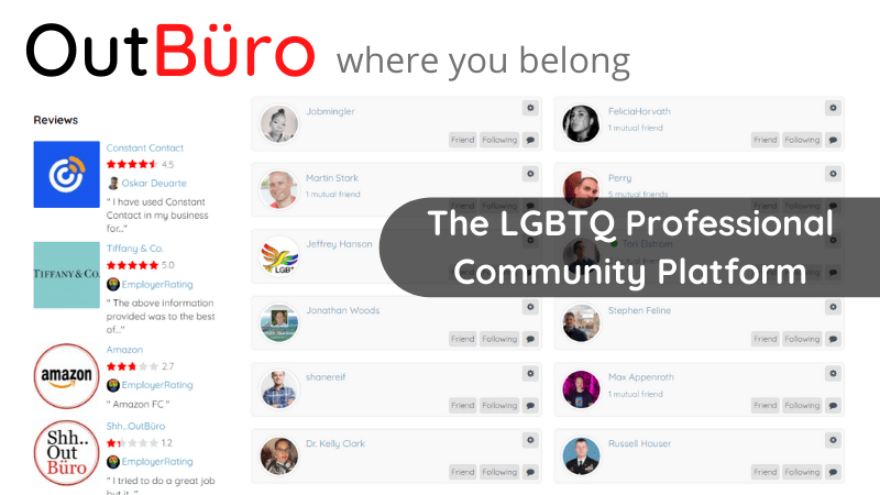 OutBuro The LGBTQ Professional Community Platform