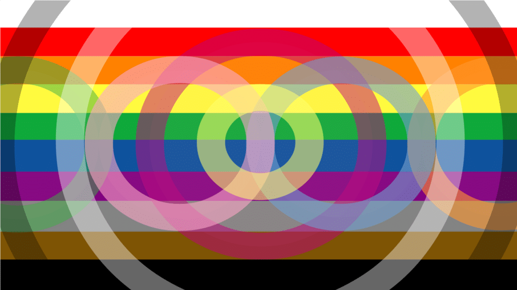 OutBuro Intersectional Pride Flag by Dennis Velco Created July 2020 lgbtq pride professional online community groups rate your emploer rating company reviews gay lesbian queer trans entrepreneur