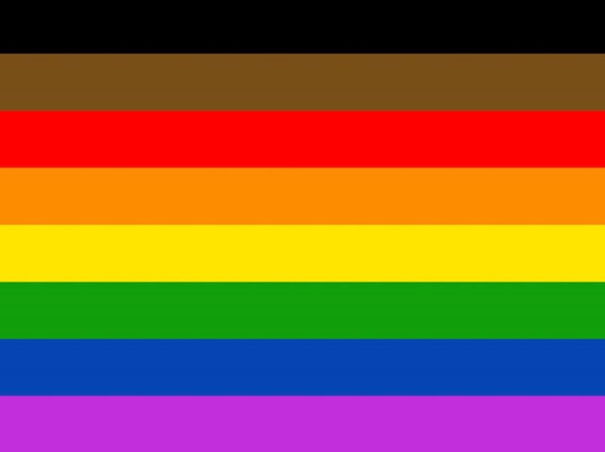 Philadelphia People of Color-Inclusive Flag lgbtq gay lesbian trans queer transgender bisexual asexual intersex pansexual professionals entrepreneurs online networking community outburo