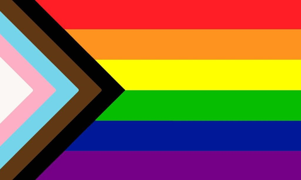 progress -Inclusive Flag lgbtq gay lesbian trans queer transgender bisexual asexual intersex pansexual professionals entrepreneurs online networking community outburo