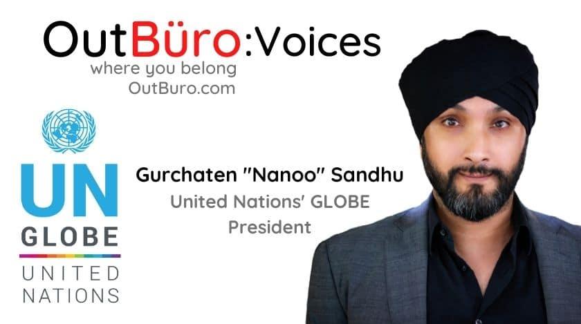 गुरचेन नानू संधु संयुक्त राष्ट्रसंघ GLOBE अध्यक्ष आउटबरो lgbtक्यू पेशेवरहरू समलि .्गी समलि les्गी समलिnder्गी ट्रान्सजेन्डर क्विर बाइसेक्सुअल अनलाइन समुदाय