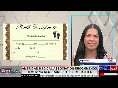 American Medical Association AMA recommends removing sex gender from birth cirtificate LGBT professional entrepreneur online networking community gay lesbian bisexual transgender nonbinary