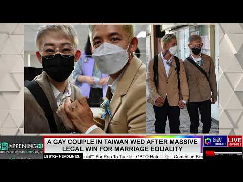 gay couple in Taiwan wed after legal win for same gender marriage utBuro LGBTQ professional entrepreneur online networking community lesbian bisexual transgender nonbinary