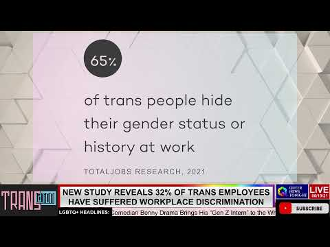 study reveals 32 percent of trans employees have suffered workplace discrimination OutBuro LGBT professional entrepreneur online networking community lesbian bisexual transgender nonbinary