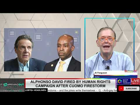 Alphonso David Fired by Human Rights Campaign After Cuomo Firestorm HRC OutBuro LGBT professional entrepreneur online networking community gay lesbian bisexual transgender nonbinary