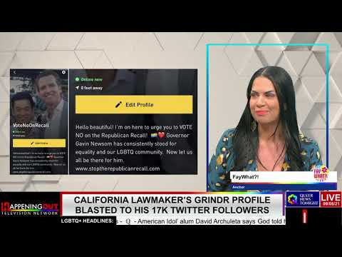 California lawmaker's Grindr profile blasted to his 17K Twitter followers OutBuro LGBT professional entrepreneur online networking community gay lesbian bisexual transgender nonbinary