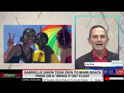 Gabrielle Union Took Zaya To Miami Beach Pride On A Bring It On Float OutBuro LGBT professional entrepreneur online networking community gay lesbian bisexual transgender nonbinary