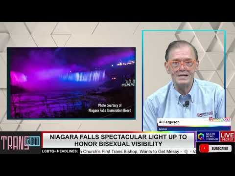 Niagara Falls Spectacular Light Up To Honor LGBTQ+ Visibility OutBuro LGBT professional entrepreneur online networking community gay lesbian bisexual transgender nonbinary