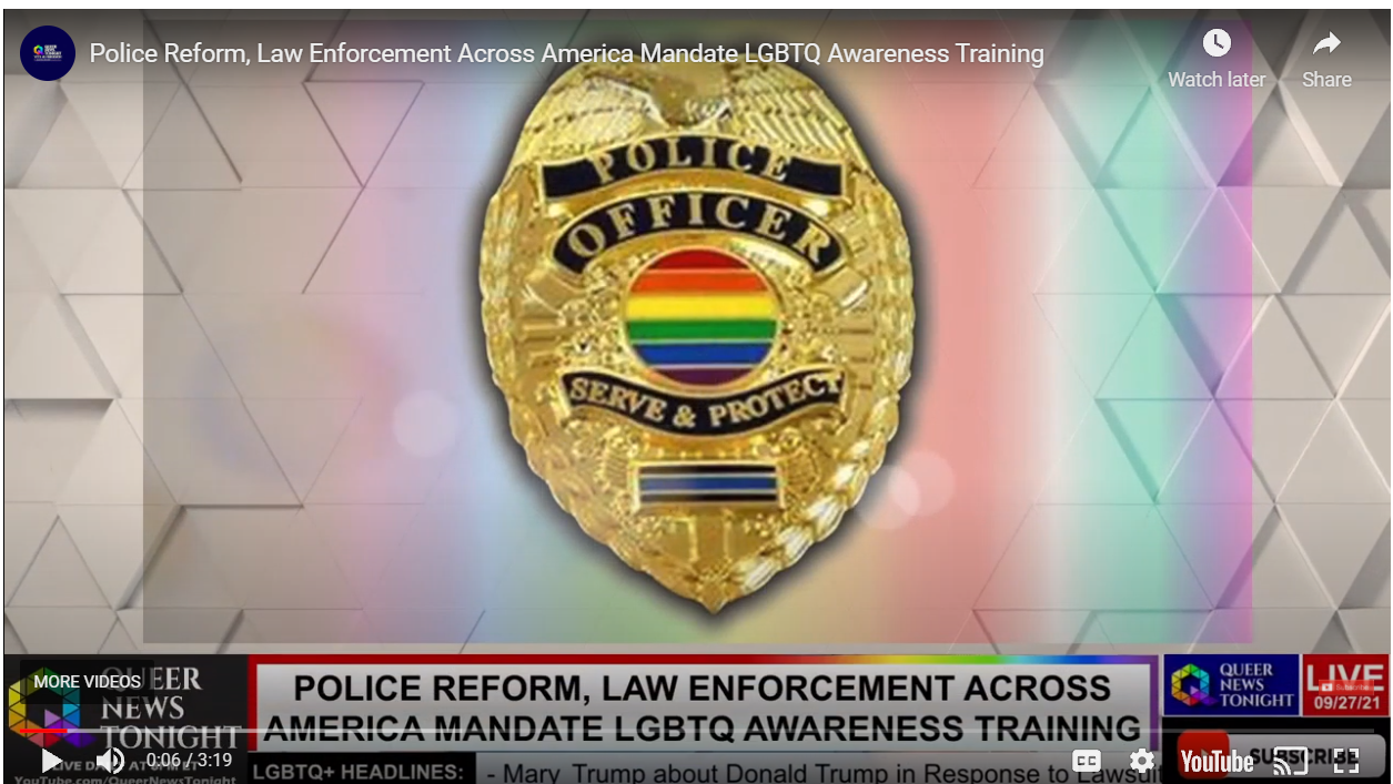 Police Reform, Law Enforcement Across America Mandate LGBTQ Awareness Training OutBuro lgbt professional entreprenuer networking online community gay lesbian transgender queer bisexual nonbinary
