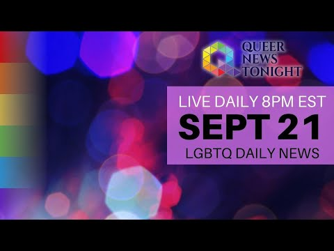 Queer News Tonight Sep 21 2021 OutBuro LGBT professional entrepreneur online networking community gay lesbian bisexual transgender nonbinary