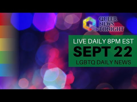 Queer News Tonight Sep 22 2021 OutBuro LGBT professional entrepreneur online networking community gay lesbian bisexual transgender nonbinary