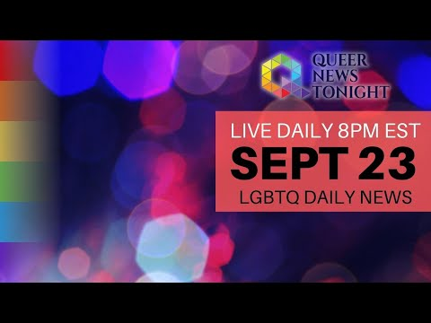 Queer News Tonight Sep 23 2021 OutBuro LGBT professional entrepreneur online networking community gay lesbian bisexual transgender nonbinary