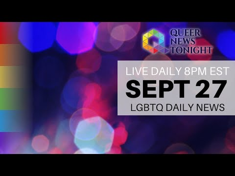 Queer News Tonight Sep 27 2021 OutBuro LGBT professional entrepreneur online networking community gay lesbian bisexual transgender nonbinary