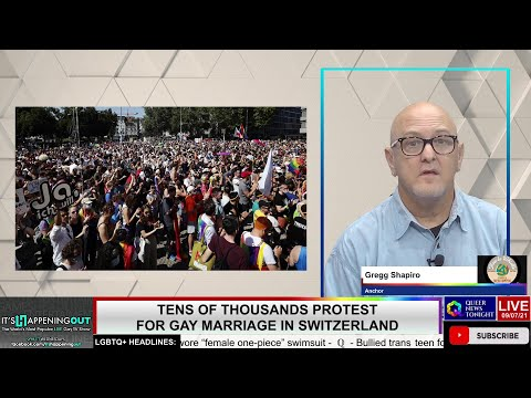 Tens of thousands protest for gay marriage in Switzerland OutBuro LGBT professional entrepreneur online networking community gay lesbian bisexual transgender nonbinary