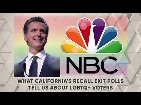 WHAT CALIFORNIA'S RECALL EXIT POLLS TELL US ABOUT LGBTQ VOTERS OutBuro LGBT professional entrepreneur online networking community gay lesbian bisexual transgender nonbinary