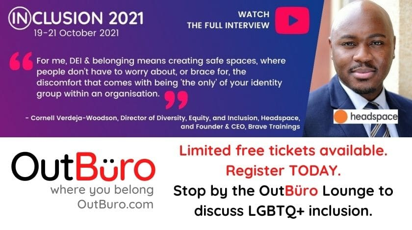 Copy of Inclusion 2021 Summit - OutBuro LGBTQ profession entrepreneur networking online community gay lesbian transgender queer bisexual nonbinary 2