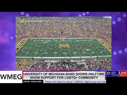 University of Michigan Band Shows Halftime Show Support For LGBTQ+ Community OutBuro LGBT professional entrepreneur online networking community gay lesbian bisexual transgender